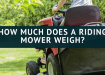 weight of a riding mower