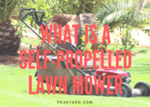 What is a self-propelled lawn mower?