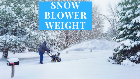 snowblower weight