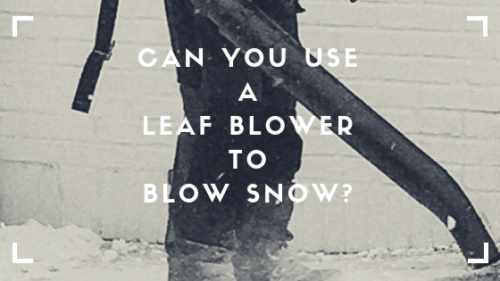 Can You Use A Leaf Blower To Blow Snow?
