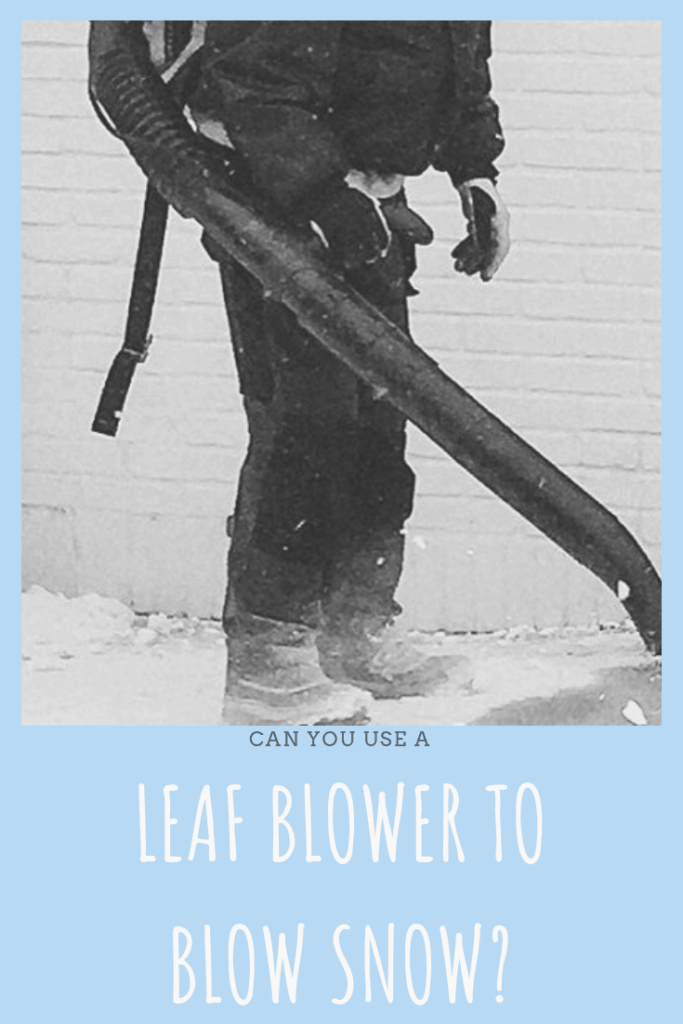 Leaf Blower on Snowy Driveway