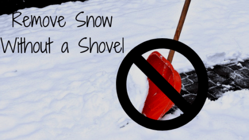 How To Remove Snow From A Driveway Without A Shovel?
