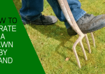 Aerate lawns by hand